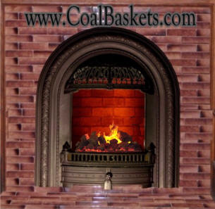 Spectacular electric Fireplace with Victorian Windsor front for that small Coal burning fireplace with a non functioning chimney